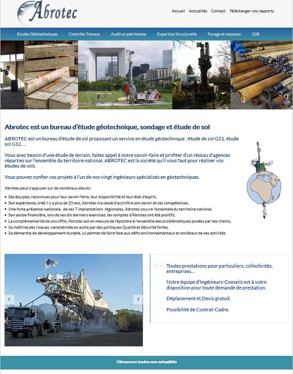 Site internet de l'entreprise Abrotec - Le Conseil Informatique